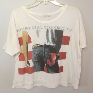 [Bruce Springsteen] Born in the USA crop top S/M
